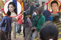 倪妮现身香港街头拍戏 因太美被围观市民求拍照